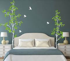 2 Models 3 Colors Large Vinyl Nordic Tree Leaf Bird Sticker Wall Sticker Wall Decal Art Decor Sticker Green Nature Forest In 2020 Decal Wall Art Decorate Your Room Wall Decals