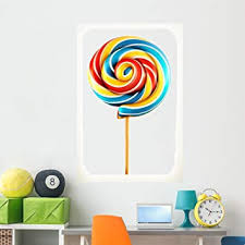 Amazon Com Wallmonkeys Rainbow Swirl Lollipop Vector Wall Decal Peel And Stick Decals For Girls 60 In H X 40 In W Wm251750 Furniture Decor