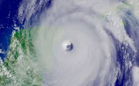 Stock Photo: Satellite Image of Hurricane Wilma's Eye