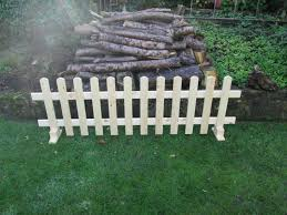 Wooden Free Standing Picket Fence Panels 6ftx2ft Planed Timber Smooth Finish Picket Fence Panels Fence Panels Planed Timber