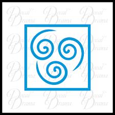Avatar Element Symbol Set The Last Airbender Inspired Vinyl Car Lapto Decal Drama