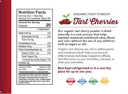 organic tart cherry powder