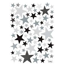 Superstar Black And Grey Stars Wall Decal Ust Kids