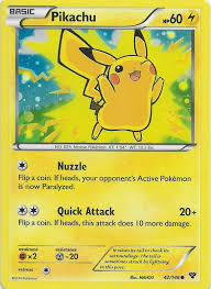 Pokemon XY Promos: Pikachu 42/146 Holo Movie Promo Card Near Mint for sale  online
