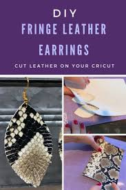 diy leather earrings with a cricut