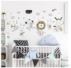 Cartoon Animal Concert Kindergarten Wardrobe Decoration Cartoon Stickers Nursery Decor Vinyl Wall Decal Beauty Salon Wall Decals Room Wall Stickers Wall Decals Baby Nursery From Meow Sports 1 53 Dhgate Com