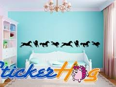 Horse Border Vinyl Wall Decal Graphics Nursery Bedroom Home Decor