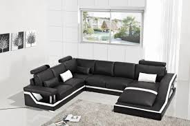 genuine leather sectional sofa modern