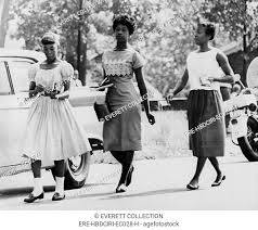 US Civil Rights. From left: Integrated students Elsie Robinson ...