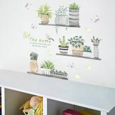 Pvc Home Decor Bonsai Wall Sticker Decorative Sticker Removable Butterfly Diy Flower Floral Wall Decals Floral Wall Stickers From Sunflower42 5 5 Dhgate Com