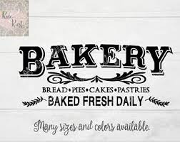 Bakery Decals Etsy