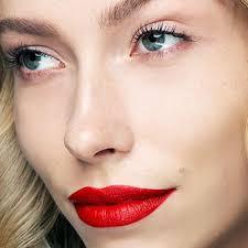 red lipstick lip sn and lip lacquer