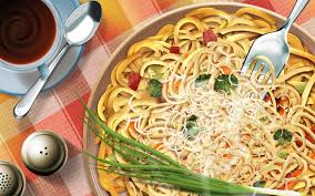 pasta dinner italian food wallpaper