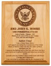 u s navy sailor service plaques
