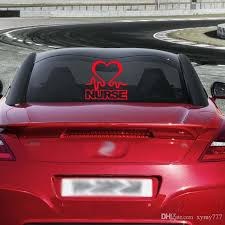 2020 Nurse Heart Vinyl Car Window Decal Car Styling Cardiac Love Work Jdm Sticker Accessories Graphics Decor From Xymy777 1 69 Dhgate Com