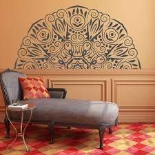 Half Mandala Wall Decal Mandala Wall Decor Printable Art Etsy