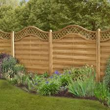 Garden Patio Fence Panels Forest Wooden Prague Decorative Curved Garden Trellis Fence Panel Packs 4ft Mtmstudioclub Com