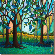 Whispering Woods' Stretched Canvas Print - Peggy Davis | Art.com
