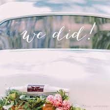 Just Married Car Decal We Did Art Text Decorative Wedding Decor Vinyl Wall Sticker Modern Wedding Happily Quotes Poster Wall Decals Uk Wall Decals Vinyl From Onlinegame 7 88 Dhgate Com