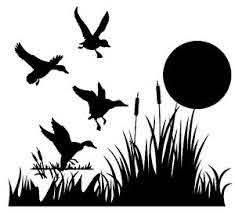 Ducks In Grass W Sun Decal Waterfowl Window Sticker Wildlife Decal