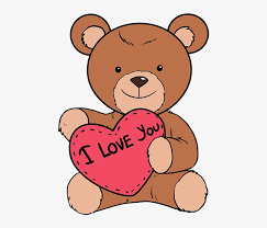 how to draw teddy bear with heart