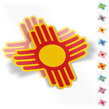Zia Two Sticker Set 6 Custom Colors Weatherproof Window Vinyl Sticker Decals Of New Mexico Native American Sun Symbol For Car Or Laptop Spacedust