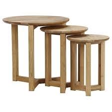 stockholm nest of tables 3 oak oak