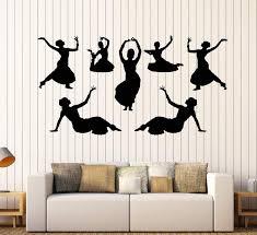 Vinyl Wall Decal Indian India Dance Dancers Girls Devadasi Hindu Stick Wallstickers4you