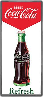 Amazon Com Coca Cola Refresh Bottle Wall Decal Sticker Decor 1950s Style 14 X 31 Home Kitchen