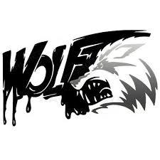 Wolf Paw Oval Bumper Sticker Or Helmet Sticker D2997 Euro Oval