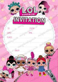 Design Buddies Lol Surprise Paquete De 20 Invitaciones Para