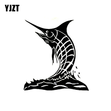 Yjzt 14 7cm 16cm Personality Blue Marlin Fish Car Window Sticker Vinyl Decals Black Silver Accessories C11 0130 Car Stickers Aliexpress
