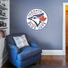 Toronto Blue Jays Logo Giant Officially Licensed Mlb Removable Wall Decal Removable Wall Decals Toronto Blue Jays Wall Decals