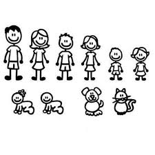 Standard Family Decal Car Stickers Mom Dad Brother Sister Baby Etsy
