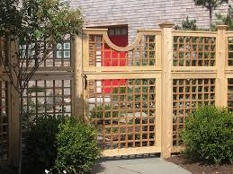 wood fence designs for beautiful garden