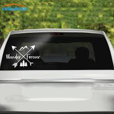 15 10cm Wander Forever Words Vinyl Decal Nature Decal Art Laptop Or Car Window Decals Adventure Arrow Sign Stickers L852 Car Stickers Aliexpress