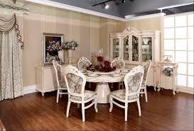 classic fancy round dining room table