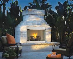 stainless steel outdoor fireplace