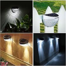 Solar Powered Fence Lights Wall Door Step Smd Led Light Outdoor Garden Lighting Ebay