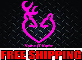Purchase Browning Heart Buck Doe Vinyl Decal Sticker Car Family Truck Diesel Motorcycle In Batavia Ohio Us For Us 4 99
