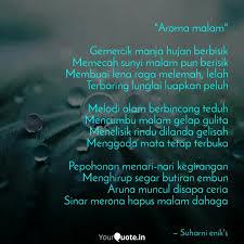 aroma malam gemercik m quotes writings by suharni enik s