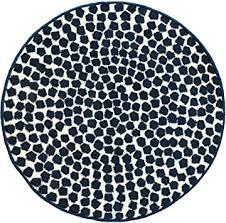 ikea modern blue white round throw