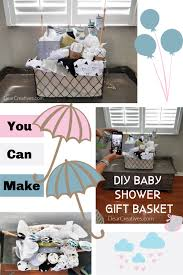 diy baby gift basket baby shower gift