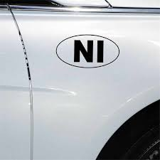 Yjzt 13 4cm 7 1cm Ni Nicaragua Country Code Oval Vinyl Decal Car Sticker Black Silver C10 01754 Car Stickers Aliexpress