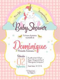 Invitacion Baby Shower Unicornio Plantillas Para Invitacion De