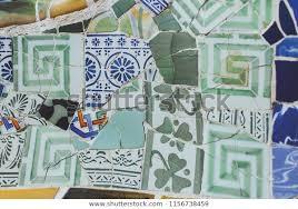 broken glass mosaic tile colored green