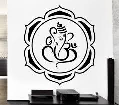 Lotus Wall Stickers Mandala Buddhist Hindu Ganesha Mascot Vinyl Decal Ig2504 Wall Stickers Mandala Ganesha Mandala Buddhist
