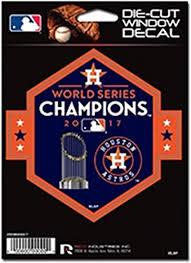 Amazon Com Rico Industries Houston Astros 2017 World Series Champions Dcd 5 Flat Vinyl Die Cut Decal Auto Home Sticker Emblem Baseball Sports Outdoors