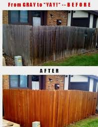 This Fence Was Going To Cost Over A 1000 To Replace But A Fence Makeover And Restoration Cost Under 200 Wood Fence Grey Fences Outdoor
