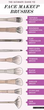 the diffe kinds of makeup brushes